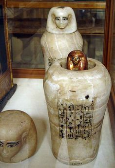 *EGYPT ~ Canopic jars