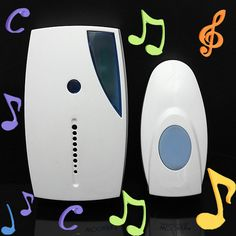 NEW White Portable Mini LED 32 Tune Songs Musical Music Sound Voice Wireless Chime Door Room Gate Bell Doorbell  Remote Control