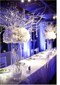 Add a touch of blue lighting to really get an icy wonderland feel!