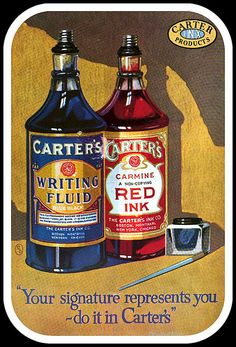 1922 July Carter's Writing Fluid and Carmine Red Ink | Flickr - Photo Sharing!