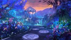 Drawing Unique Suramar Garden by anndr Daily World of Warcraft Art Board ^^ // Blizzard // wow // Hearthstone // Geek Fantasy City, Fantasy Places, Fantasy Kunst, Fantasy World, Fantasy Art Landscapes, Fantasy Landscape, Landscape Art, Warcraft Art, World Of Warcraft
