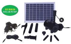http://ift.tt/1OfJ52b SOLAR TEICHPUMPE GARTENBRUNNEN TEICHPUMPEN SET OASIS 810-H HYBRID LED Solar-Teichpumpe mit innovativem SOLAR und 230V-BETRIEB 8 Watt max. 800L/h max. 2m-Fontänenhöhe für Gartenteich Solarbrunnen Springbrunnen mit STABILEM ALU-RAHMEN @$hojiko