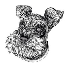 zentangle dogs schnauzer - Google Search