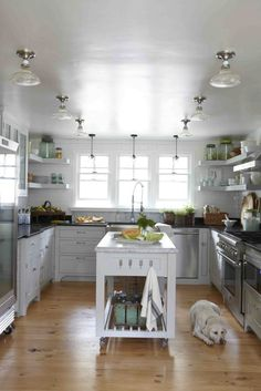 Kitchen with small centre island - Photos by Victoria PearsonStyling by Heather Bullard
