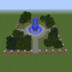 Minecraft Park, Minecraft Modern City, Minecraft Shops, Minecraft Garden, Minecraft Statues, Minecraft City Buildings, Easy Minecraft Houses, Minecraft House Tutorials, Minecraft Room