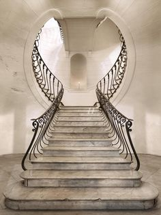 La Maison Gray - Interiors. Glorya: Great Staircase, it's like the mansion is giving birth daily and then mothering each individual who goes into her womb. This is very womanly.