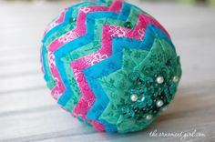 Quilted Easter Egg via Craftsy
