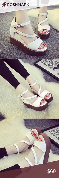 🆕Platform Sandals w/ Back Zipper🆕 ➰Follow me, like and share! Tons of new arrivals!➰  🔸Feel free to leave me a comment so that I can check out your closet too!🔸  🌸I accept offers and trades!!🌸 👇👇👇👇👇👇👇👇👇👇👇 *** I do not accept all offers and automatically decline lowball offers. Not all items will be available for trade.***  ♥️🌞Happy Poshing🌞♥️ Shoes Platforms