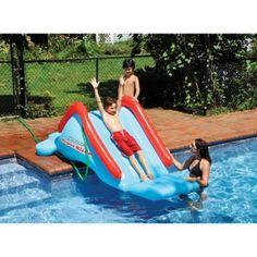 Swimline 90809 Super Water Slide Swimming Pool Inflatable Toy Kids Summer Fun