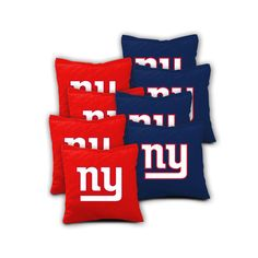New York Giants Cornhole Bags Set of 8  Top by CornholeDecals