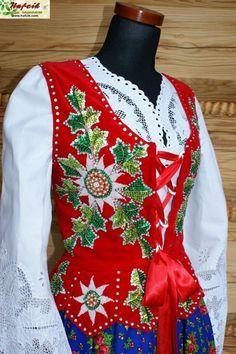 Polish Embroidery, Folk Embroidery, Folk Costume, Costumes, Polish Folk Art, Drawing Clothes, My Heritage, Fashion Sewing, Historical Clothing