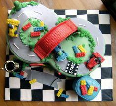 Lego Racers Racetrack Birthday Cake