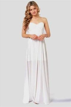 Cool white strapless maxi dress 2018/19 Check more at http://newclotheshop.com/dresses-review/white-strapless-maxi-dress-201819/