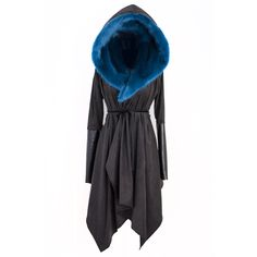 Asylum Coat; Azure Blue ,,, Hello, what's this? Totally seeing Dragon Age in this look.