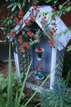 I love the idea of a little shrine nestled in the corner of the garden. I could leave offerings for the spirits and the fey that watch over my fruit trees.