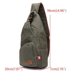 Men Canvas Travel Hiking Crossbody Bag Casual Chest Bag