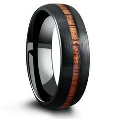 Silver Tungsten Koa Wood Ring With Tungsten Stripe - The Barrel Ring – Northern Royal, LLC Wooden Wedding Bands, Gay Wedding Rings, Gold Wedding, Wedding Decor, Wedding Ideas, Barrel Rings, Ring Crafts, Woodland Wedding, Forest Wedding
