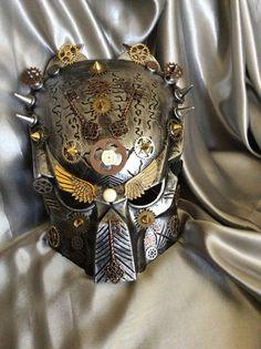 Steampunk Predator Mask máscara de la mascarada por LuckySteamPunk
