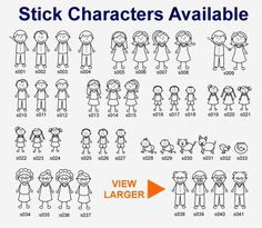 Characters available for stick family house plaques House Plaques, Stick Family, House Names, Family Signs, Home Signs, Characters, Stick Figure Family, House Signs