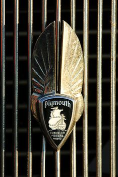 1934 Plymouth Hood Emblem by Jill Reger...Re-pin brought to you by agents at #HouseofInsurance #Eugene, Oregon for #carinsurance.