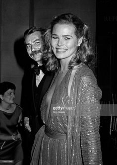 Margaux Hemingway and husband Bernard Foucher attend Diana Vreeland Costume Exhibition. December 3, 1979