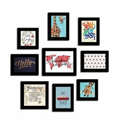 Create a photo wall gallery with these framed quotes. These frames are stylishly oriented to grant attention for your wall. This photo frame set is a great addition to your decor. This is a set of 8 quote photo frame set designed to give positive Framed Quotes, Wall Quotes, Into The Woods Quotes, Poster Wall, Frames On Wall, Custom Framing, Street Art, Photo Wall, Gallery Wall