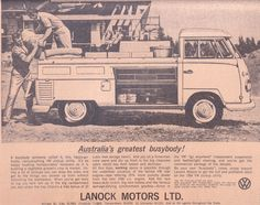 1964 Volkswagen Ute Ad by Five Starr Photos ( Aussiefordadverts), via Flickr