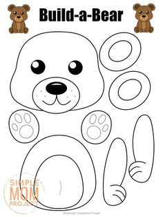 I'm really excited to share fun and fall festive themed animals just in time for this fall. These animals are a really fun day to spend some quality time coloring and building with your kids. This entire set is perfect for making wonderful fall memories together. The best part is that they're easy enough for toddlers and preschoolers, yet even older kids will have fun building animals together. With that in mind, here's what I've included in this printable craft […] Forest Animal Crafts, Animal Crafts For Kids, Forest Animals, Woodland Animals, Woodland Forest, Crafts To Do, Felt Crafts, Paper Crafts, Teddy Bear Crafts