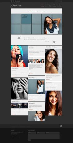 Nice style of article posts - 42 Picture Perfect Premium WordPress Themes for Photographers Ui Design Inspiration, Web Design Trends, Le Web, Web Layout, Premium Wordpress Themes, Interface Design, Interactive Design, Graphic Design, Metro Style