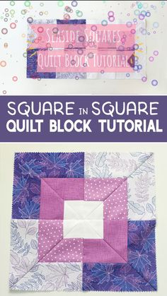 Learn how to make an easy square in square quilt block from a jelly roll! # patchwork quilts patterns easy Square in Square Quilt Block Tutorial Quilt Blocks Easy, Strip Quilts, Patch Quilt, Easy Quilts, How To Make Quilts, Tumbling Blocks Quilt, Big Block Quilts, Modern Quilt Blocks, Small Quilts