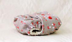 Newborn Organic Wool Diaper Cover Shroomy by OneLoveDiaperCo