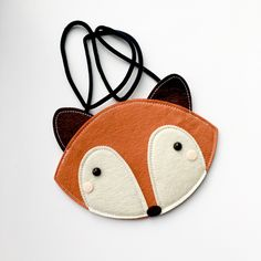 Orange Fox Purse