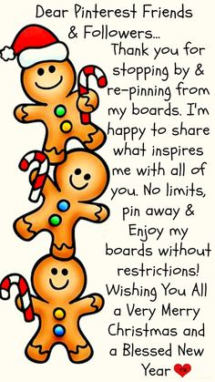Dear Pinterest Friends and Followers... Pin Anything as Much as You would Like ♥ Enjoy my boards without restrictions ♥ Wishing you all a Very Merry Christmas and a Blessed New Year ♥ Tam ♥