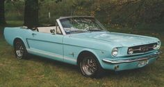 Baby blue 65 Mustang