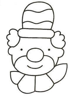 Kleurplaat: clown thema circus Circus Birthday, Circus Theme, Circus Party, Bear Coloring Pages, Coloring Sheets, Coloring Books, Circus Crafts, Carnival Crafts, Puzzle Photo