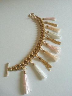 Blushing Tassel Garland Bunnie Bracelet by HBunniecreations, $20.00