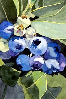 Watercolor - Blueberry series Rebecca S Lemmon