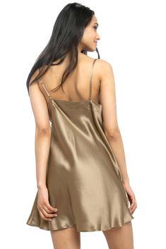 MYK Silk - Soft Silk Chemise for Women - Summer Essential Sleepwear Satin Nightie, Silk Chemise, Silk Sleepwear, Sleepwear Women, Ladies Nightwear, Silk Slip, Satin Slip, Nightgowns For Women, Satin Pajamas