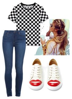 """Wknd"" by muscateguim on Polyvore featuring moda, Charlotte Olympia, Yves Saint Laurent y Paige Denim"