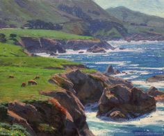 """Big Sur Spring"" by Charles Muench; 10""x12""; Oil on Linen #CaliforniaArt #EnPleinAir #LandscapeArt"