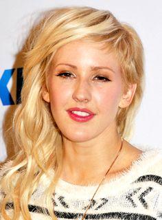 Ellie Goulding's Half Long/half short, Edgy, Blonde, Wavy Hairstyle