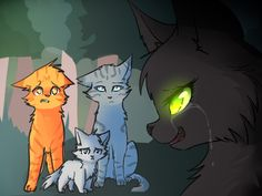 Poor hollyleaf! To be honest, as much as I love that firestar was the fourth cat, i feel as if hollyleaf or ivypool should have been it. Especially hollyleaf since she had just come back. And firestar didn't have powers and he was in it. But still I thought it was great he was the fourth cat.