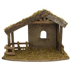 Fontanini Wooden Stable For 5 Inch Collection from Bronner's Christmas store of Christmas ornaments and Christmas lights Christmas Manger, Christmas Nativity Scene, Christmas Night, Christmas Scenes, Christmas Store, Christmas Art, Christmas Decorations, Christmas Ornaments, Christmas Villages