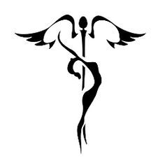 """""""I am not sure exactly what heaven will be like, but I know that when we die and it comes time for God to judge us, he will not ask, 'How many good things have you done in your life?' rather he will ask, 'How much love did you put into what you did?"""" ~ Mother Teresa ~ (caduceus tattoo feminine)"""