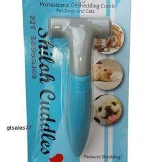 Brush Easy Grip Professional Deshedding Dog Comb Cat Grooming Pet Coat Hair