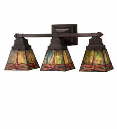 Art nouveau art deco etc lamps on pinterest for Arts and crafts bathroom lighting