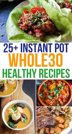 Looking for some healthy and convenient family-friendly meals? Check out this growing roundup of Whole 30 Instant Pot recipes! Looking for some healthy and convenient family-friendly meals? Check out this growing roundup of Whole 30 Instant Pot recipes! Healthy Meals To Cook, Quick Meals, Healthy Snacks, Healthy Recipes, Eating Healthy, Delicious Recipes, Clean Eating, Whole 30 Instant Pot, Best Instant Pot Recipe