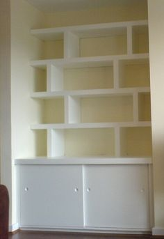 Love these alcove shelves. Exactly what we want