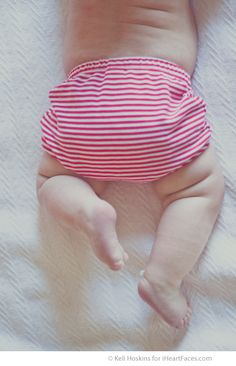 Tutorial about Capturing Baby {Months Three and Four}. Nothing cuter than a baby tush! Photo by Keli Hoskins