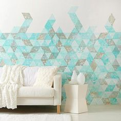 Pinte a parede usando carimbos e mude o estilo de sua sala